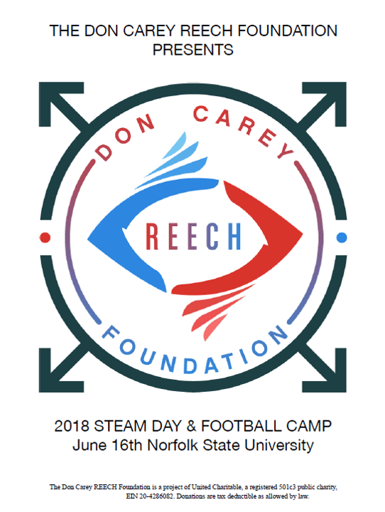 Don Carey REECH Foundaton STEAM Day and Football Camp